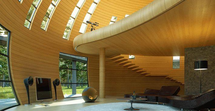 Купольный дом фото интерьера