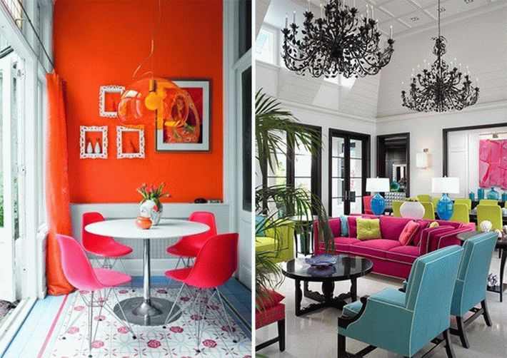 neon-kitchen-living-room-interior-orange-pink-blue-yellow-chairs-armchairs-couch