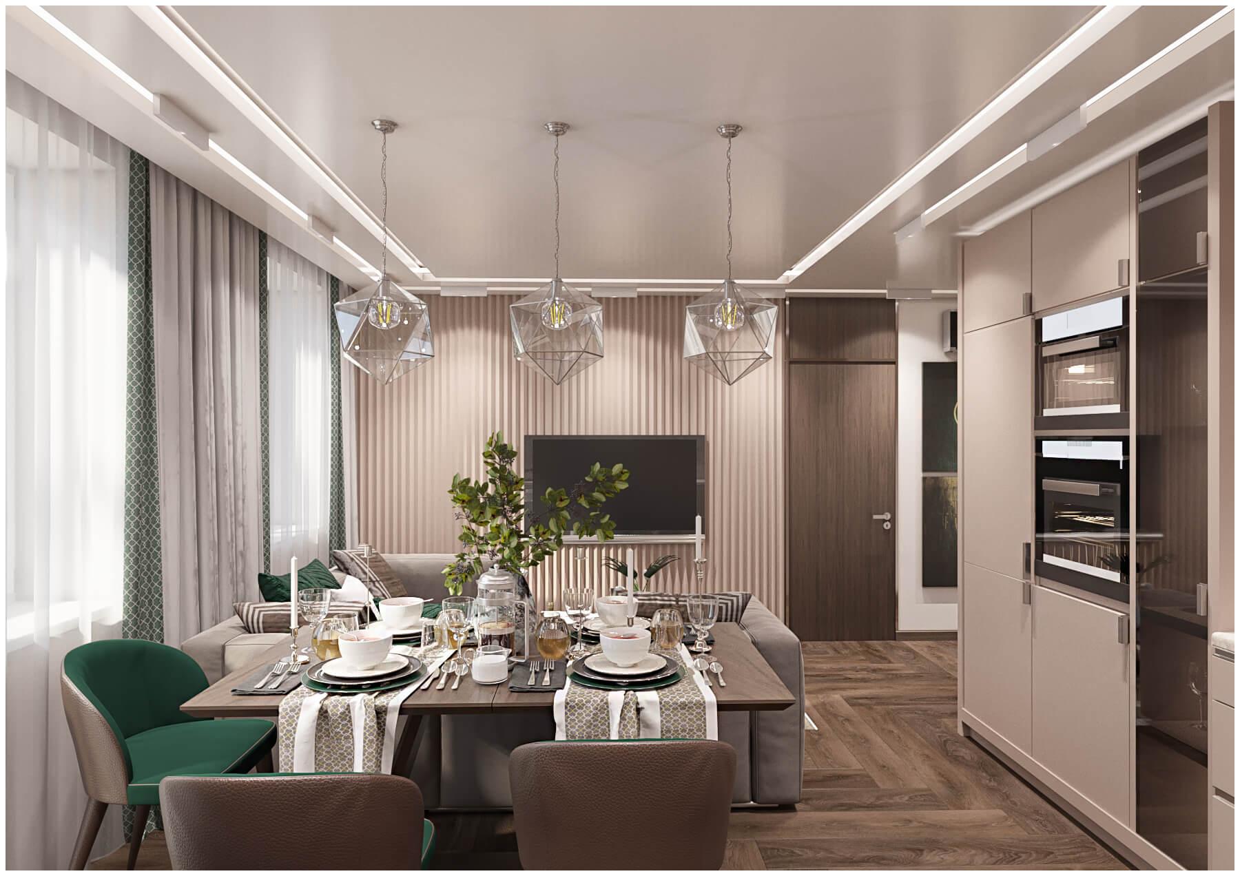 кухня гостиная ракурс5 дизайн студия Tatyana жykova